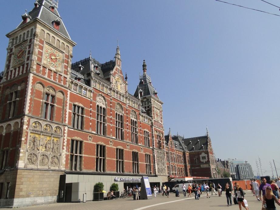 Estação central de trem em Amsterdã