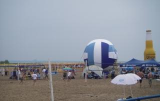 A praia de Chicago às margens do Lago Michigan