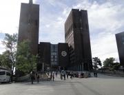 Vista geral da prefeitura de Oslo