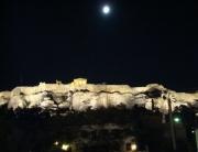 Vista noturna da Acrópole