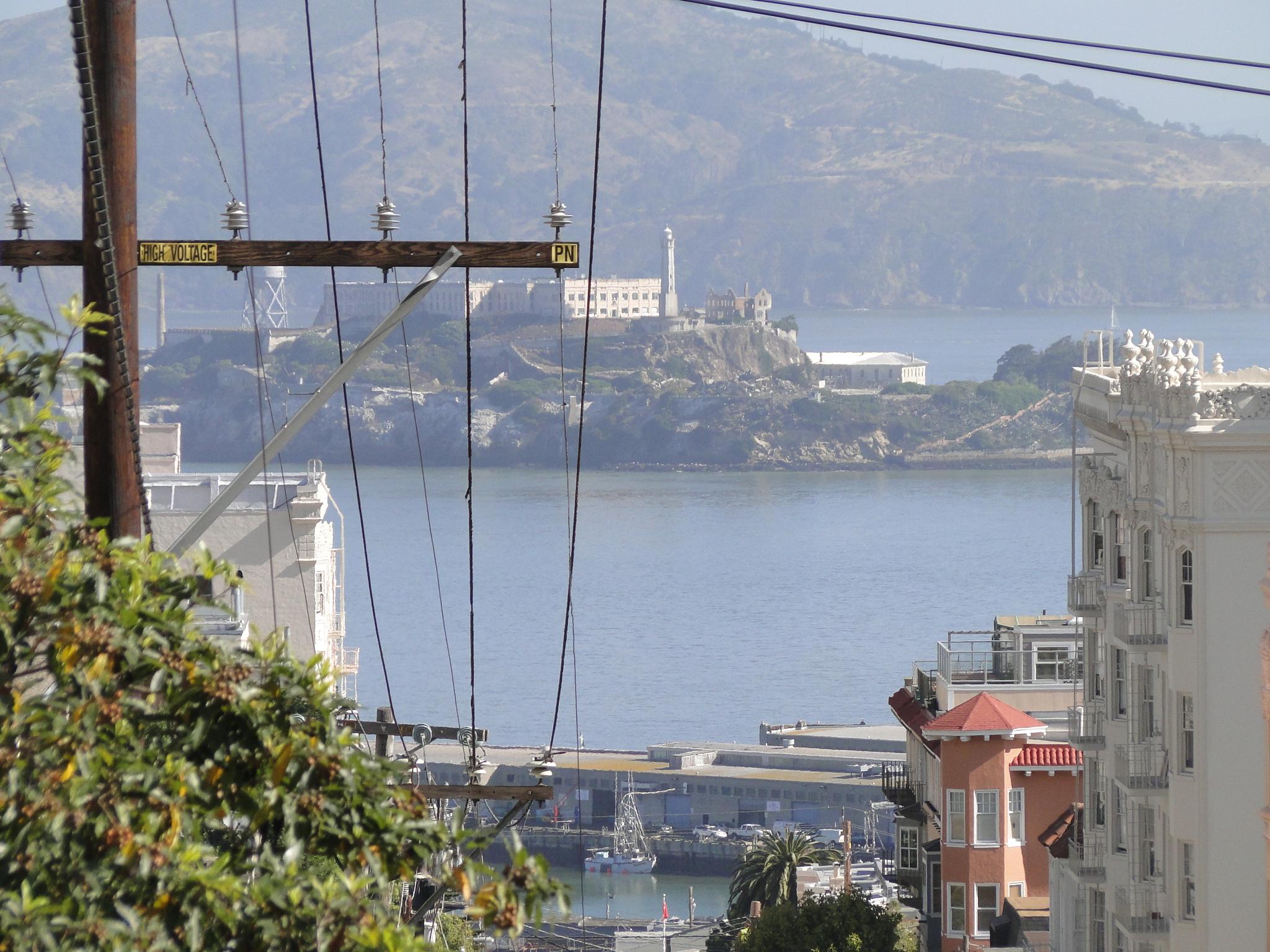 Alcatraz vista da Lombard