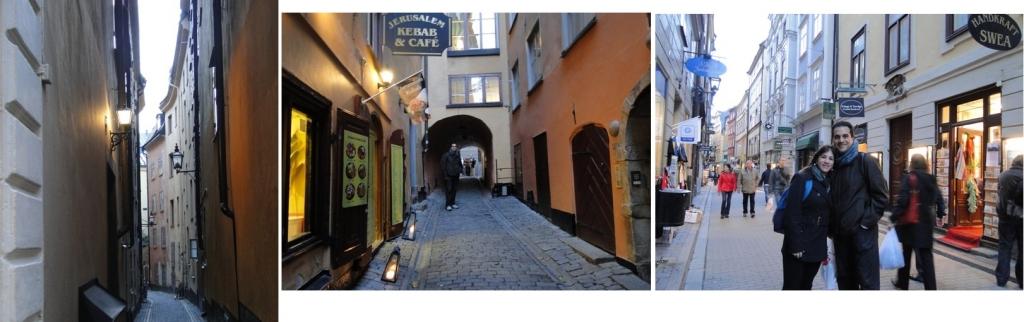 Ruas estreitas, muitas lojas, cafés e restaurantes no bairro judeu